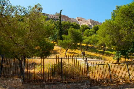 View of the Acropolis in Athens, Greece photo