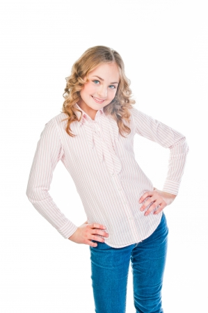 beautiful and young girl teenager photo