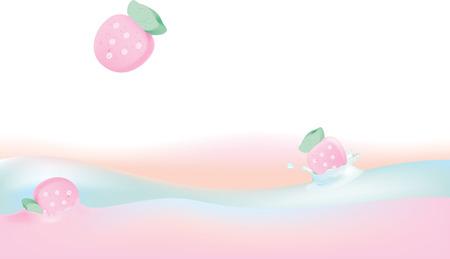 illustration of  Marshmellow falling in cream Ilustracja