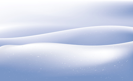 Vector illustration of snow waves in evening light