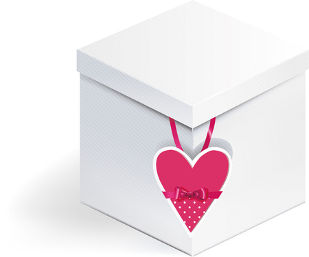 Light Box with heart shaped greeting card