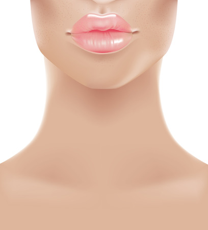 lip: illustration of Sweet pink lips