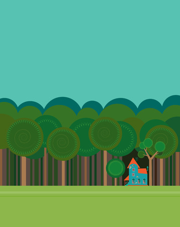 Small house in forest