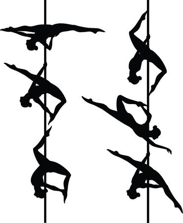 Zes pole-dansers