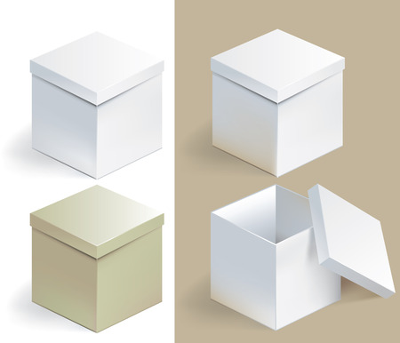 Vector illustration of empty sqare box on isolated background 일러스트