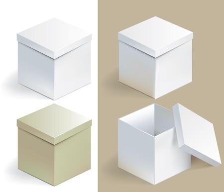 Vector illustration of empty sqare box on isolated background Ilustracja