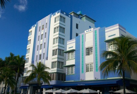 View of Casablanca in Miami Beach, this is a tyoical Art Deco building over Ocean Drive in South Beach. Art Deco buildings are protected in Miami Beach. photo