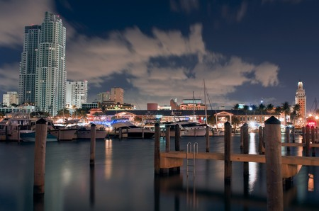 View of Marina in Downtown Miami Florida. photo