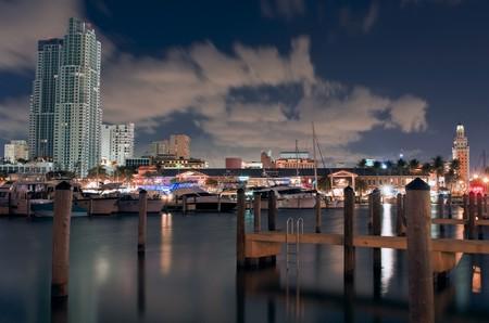 View of Marina in Downtown Miami Florida. Stock Photo - 4274134