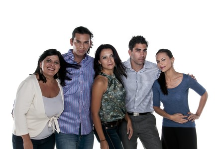 Group of friends of different ages and ethnicy. photo