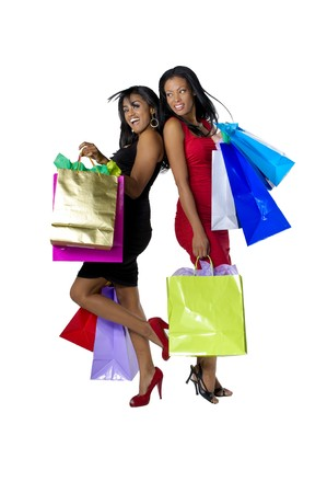 beauty shop: Young hispanic descendent womens going out for shopping with very happy attitude.