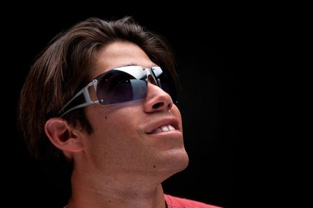 Portrait of young guy with sunglasses. Stock Photo - 4542272
