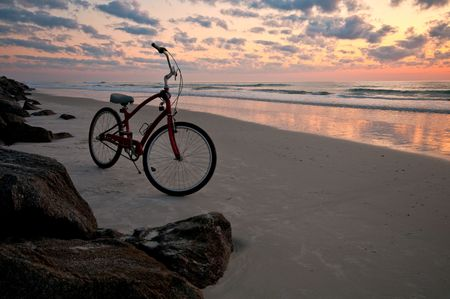 Bicycle in the beach at summer in Florida. Stock Photo - 4850034