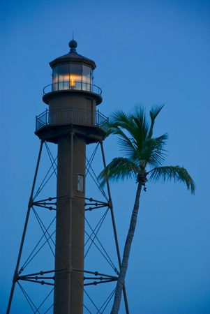 myers: Lighthouse Point at Sanibel in Florida, this Lighthouse is an historical landmark in Sabiel. Stock Photo