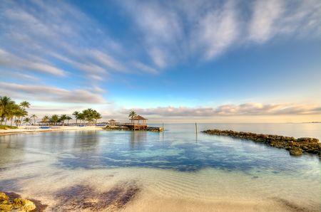 View of beach and ocean in Nassau, Bahamas. Stock Photo - 6396390