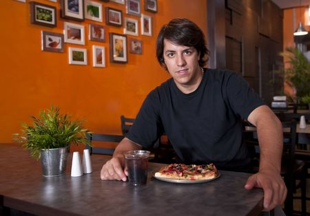 Guy in the pizza place photo