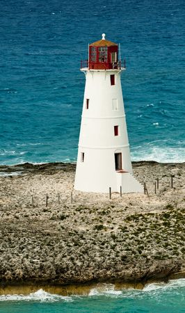 View of lighthouse in Nassau, Bahamas in the Caribbean sea. photo
