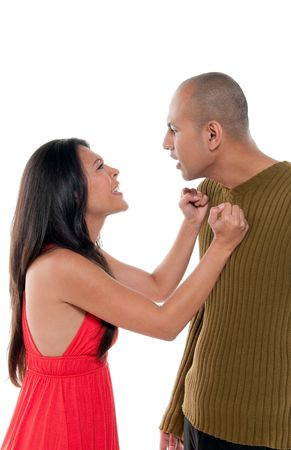 Young couple having an argument and fighting. Stock Photo - 6598097