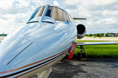 charter: Executive jet in tamrac in regional airport