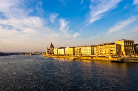 Panoramic View of Budapest in Hungary. photo