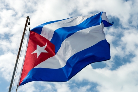 Photo of Cuban Flag in the wind,