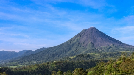 volcanos: View of the Arenal Volcano in the province of Alajuela in Costa Rica