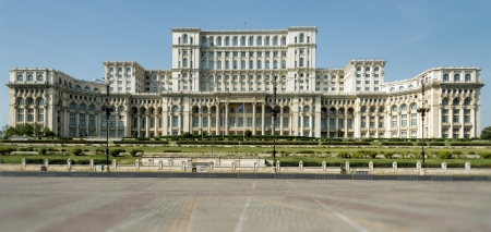 Facade of the Parliament Palace in Bucharest