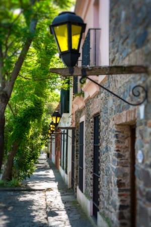colonia del sacramento: View of the street in Colonia del Sacramento in Uruguay