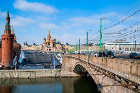 MOSCOW - CIRCA MARCH 2013  Bridge leading to the Red Square in Moscow circa 2013  With a population of more than 11 million people is one the largest cities in the world and a popular tourist destination