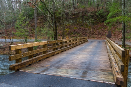 Wooden Bridge over Little Greenbrier Road in the Great Smoky Mountains National Park in Tennessee photo