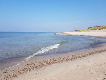 Sandy coast of the Baltic Sea