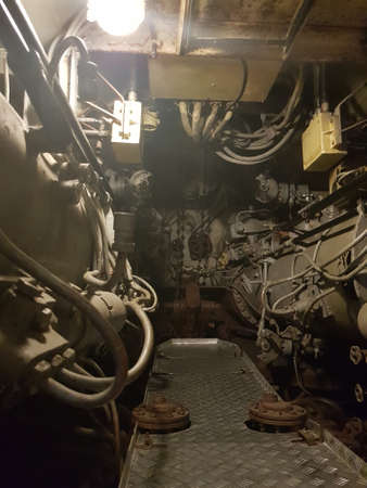 Torpedo compartment of an old military submarine