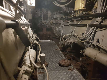 Torpedo compartment on an old military submarine