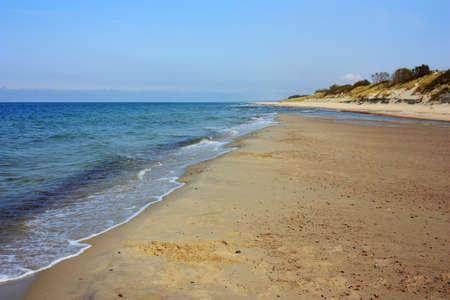 Sandy coast of the Baltic Sea Stock fotó