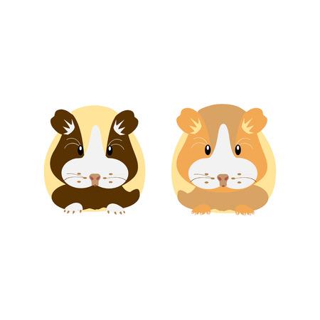 Hamster. Vector illustration flat design.