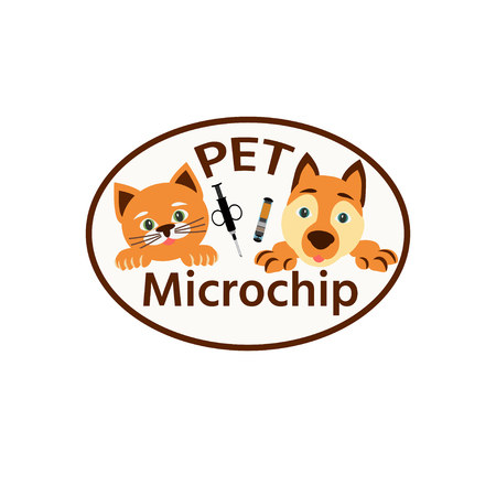 Microship your pet banner. Vector illustration.