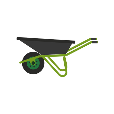 Wheelbarrow icon. Vector illustration. Concept of gardening