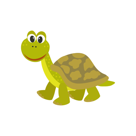 Cute turtle. Vector cartoon style illustration