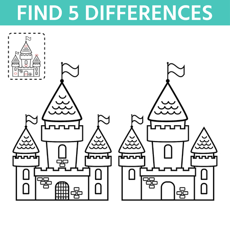 Activity Page For Kids Find The Difference The Two Castle Children