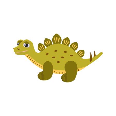 Dinosaur.  Cute baby dino for kids. Vector cartoon style illustration for presents, invitation, T-shirt, nursery decor, interior design. Çizim