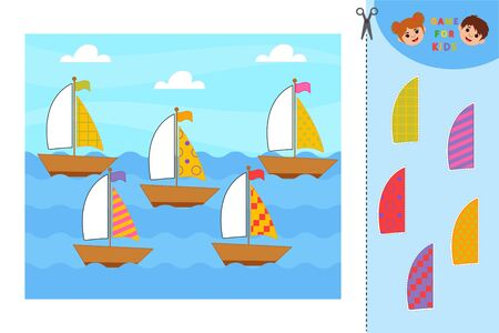 Math Game for children task for the development of logical thinking. Solve examples. Education developing worksheet. Vector illustration
