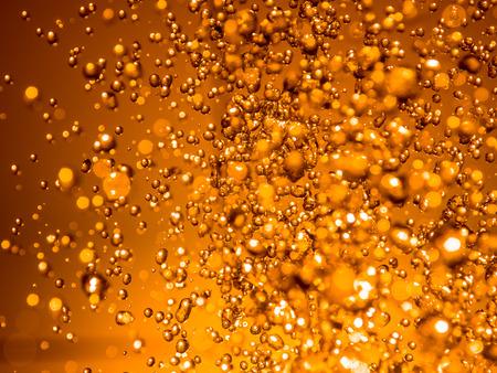 Orange water abstract splashes bokeh