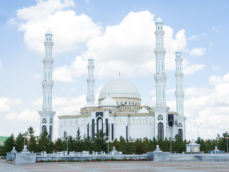 Hazrat Sultan Mosque in Nur-Sultan Kazakshtan