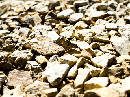 Rocks on the ground texture