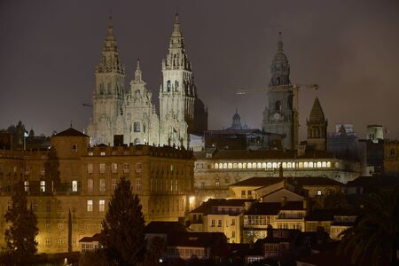 The Cathedral of Santiago of Compostela. This city is a pilgrimage destination for pilgrims from all over the world.