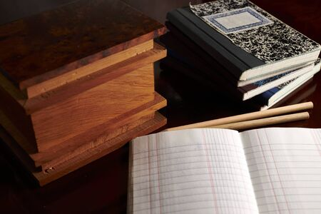 Various small notebooks for travel or accounting notes