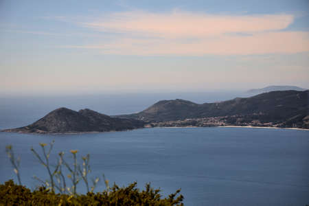 View of Mount Louro and Cape Finisterre 版權商用圖片