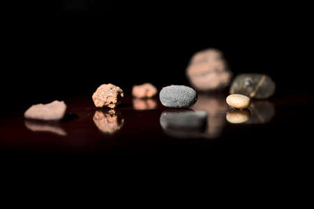 Curious stones of different sizes and shapes