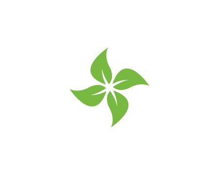 Tree leaf vector design, eco-friendly concept. Ilustração