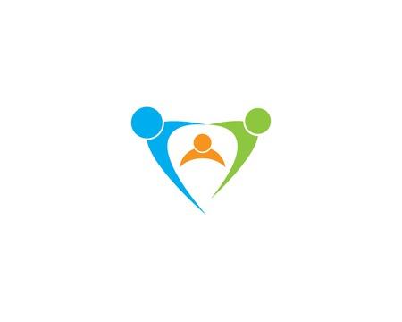 Family care template vector icon design